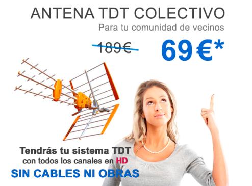 Antenas TDT oferta reparación